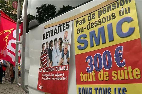 La manifestation des retraités à Poitiers a rassemblé environ 200 personnes.