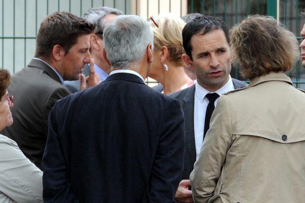 Benoit Hamon à l'école Edouard-Herriot d'Albi le 4 juillet