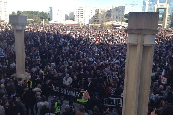 Montpellier - 15h place de l'Europe - 11 janvier 2015.