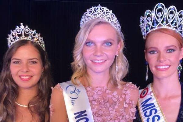 Anaelle Chrétien (au centre) élue Miss Normandie 2018