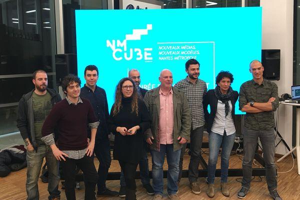 Les lauréats de la première promotion (2018) de l'incubateur de medias NM Cube à Nantes