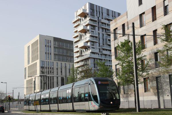 Le nouveau quartier Euratlantique en mars 2021, construit au sud de la Gare de Bordeaux.