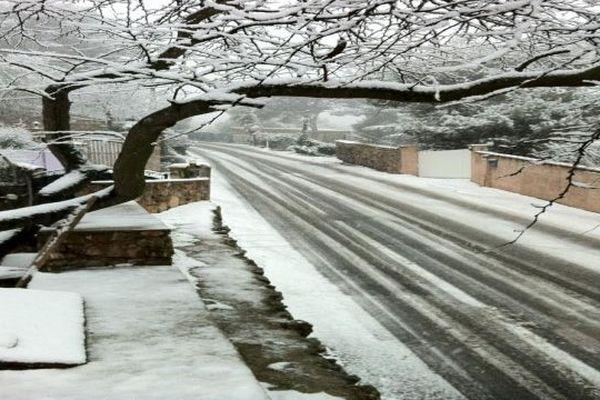 Sète (Hérault) - le Mont Saint-Clair sous la neige - 16 janvier 2013.