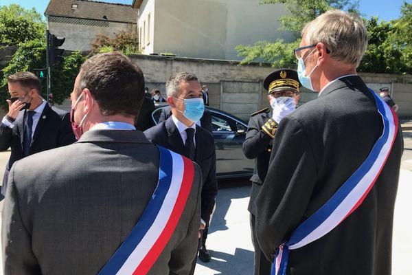 L'hommage s'est tenu en présence de Gérald Darmanin.