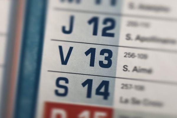 Vendredi 13, date tant redoutée...