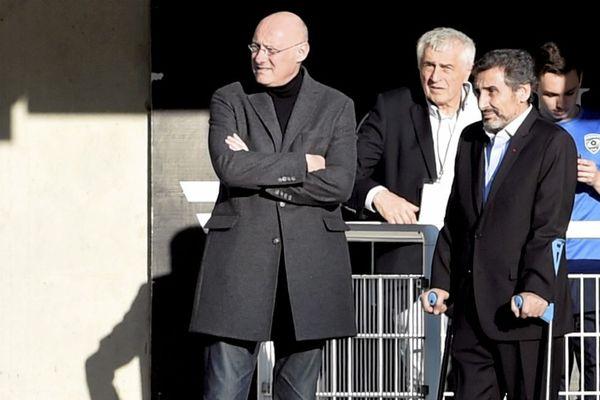 Bernard Laporte et Mohed Altrad, en février 2017 à Toulouse.