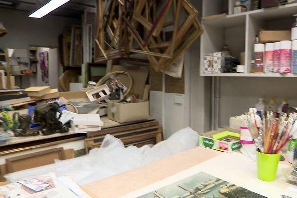 L'atelier de la galerie Rollin à Rouen