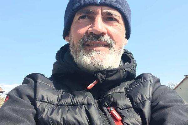 Pascal Bridel le 3 avril 2020 lors de sa première sortie post-covid.