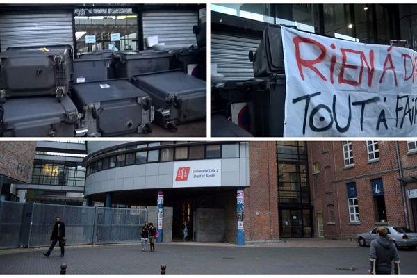 La fac de Lille 2 est bloquée depuis 7h.