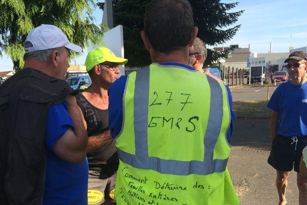 Dans la matinée du jeudi 6 juillet, le site PSA de Sept-Fons, dans l'Allier, était toujours bloqué par les grévistes de GM&S.