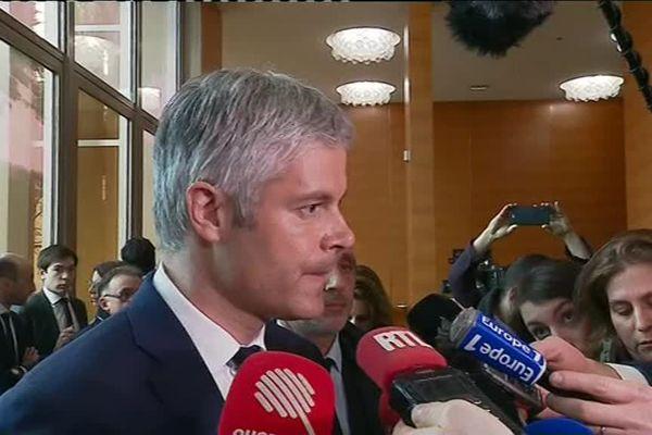 Laurent Wauquiez dit avoir voulu parler face à face avec le président de la République