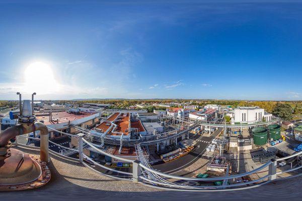 Le site d'extraction et de production d'actifs des laboratoires Pierre Fabre à Gaillac