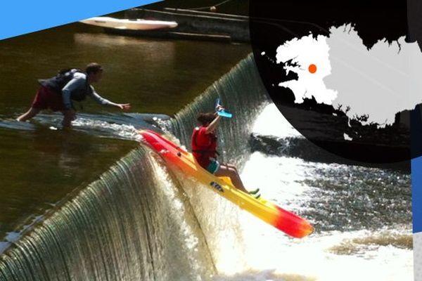 Sensations fortes en kayak sur le canal de Nantes à Brest