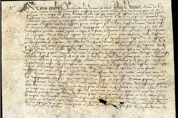 La sentence de Jean Le Voirier condamnant le 4 juin 1494 un jeune pourceau à la pendaison.