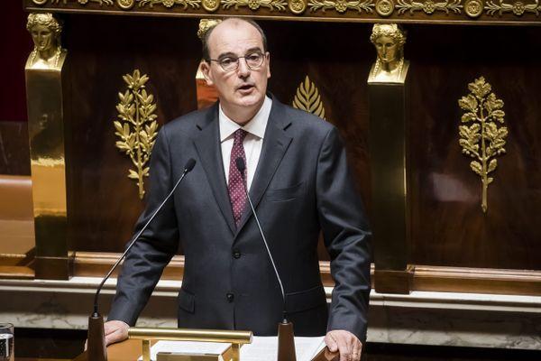 Le Premier ministre Jean Castex devant l'Assemblée nationale le 15 juillet.