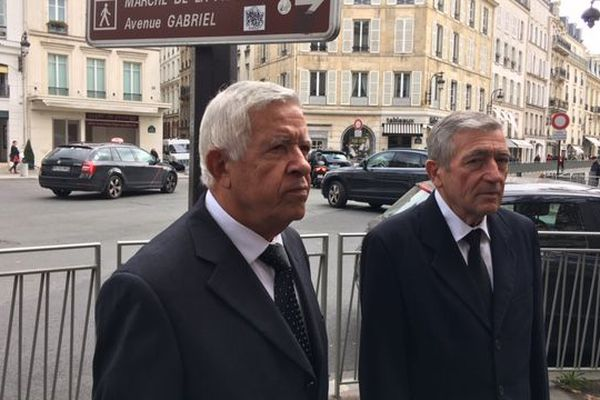 Les frères Paoli à leur sortie de l'Élysée ce vendredi 11 octobre.