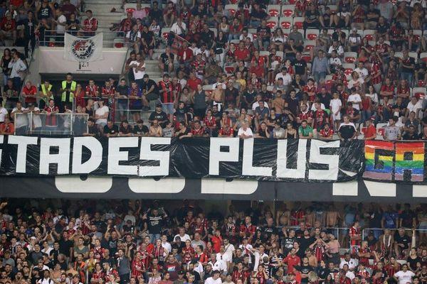 Des banderoles jugées discriminatoires avaient été déployées dans le stade de Nice le 28 août lors du match contre l'OM.