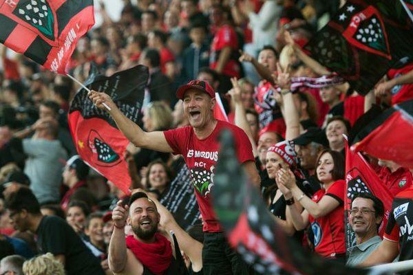 La joie des supporters toulonnais à Twickenham.