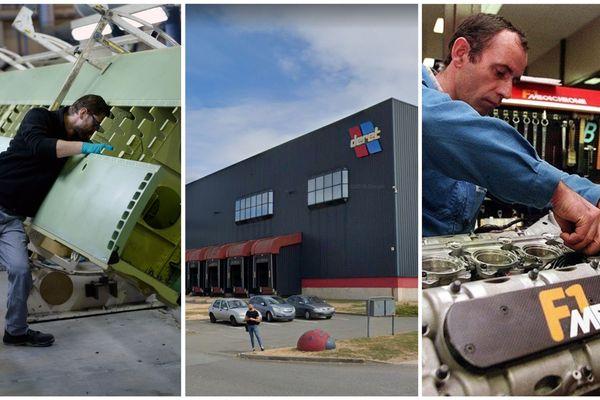 En pleine crise sanitaire, les entreprises MBDA (à gauche), Deret Logistique (au centre) et Mecachrome (à droite) appellent leurs salariés à revenir travailler.