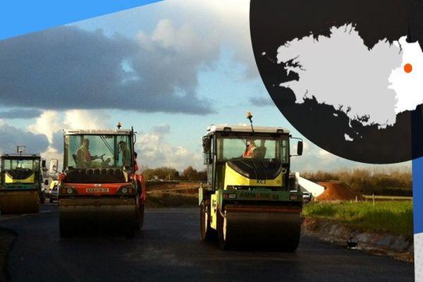 Près de Montauban-de-Bretagne, les travaux sur la RN164 doivent se terminer en 2017