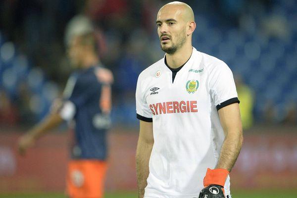 Rémy Riou lors de la rencontre entre MHSC et le FC Nantes
