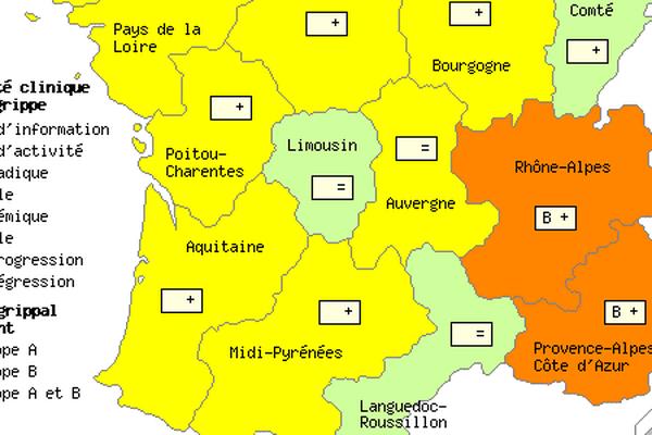 Situation de la grippe en France la semaine dernière (semaine 50)