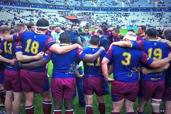 La sélection de Bourgogne après sa défaite en finale au Stade de France
