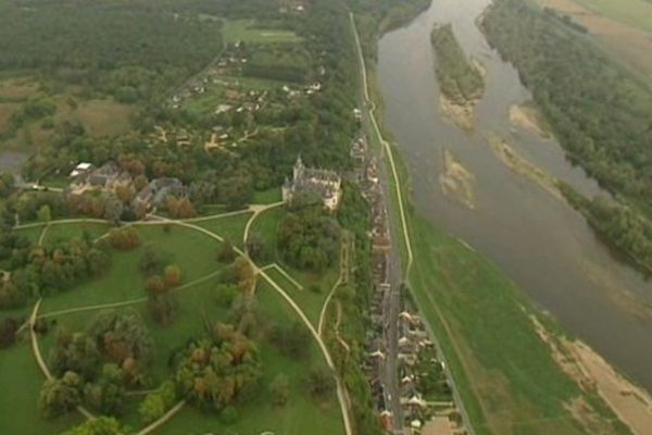La Loire vue du ciel.