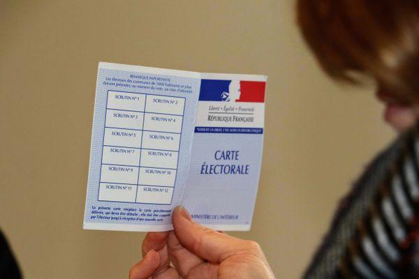 Une carte électorale lors des élections municipales de 2020.