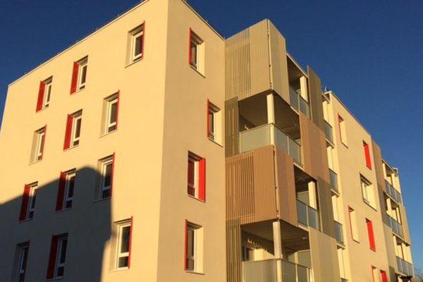 Un des immeubles de la résidence Alizari à Malaunay (Seine-Maritime)