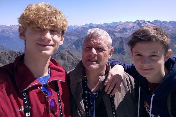 Laurent Mourey va se lancer dans le défi avec ses deux fils