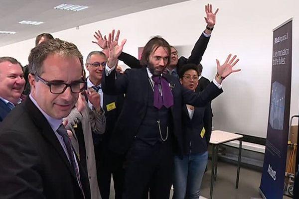 Le député et mathématicien Cédric Villani n'a pas caché son enthousiasme lors de l'inauguration du nouveau supercalculateur Romeo.