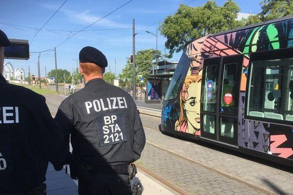 Interrompue en raison du confinement et de la fermeture de la frontière avec l'Allemagne, la ligne du tram D entre Strasbourg-Kehl a repris du service ce mardi 26 mai 2020.