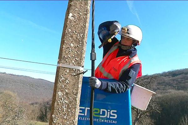 Sandrine, technicienne d'intervention en réseaux électriques