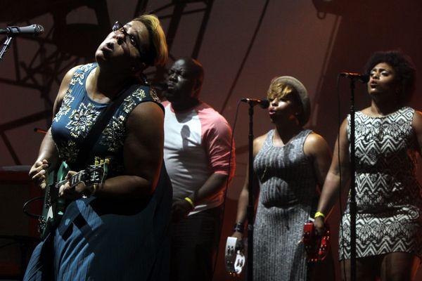 Le groupe Alabama Shakes lors des Eurockéennes de Belfort en 2015.