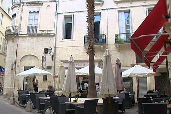 Montpellier - les touristes et les clients se font rares - 2014.