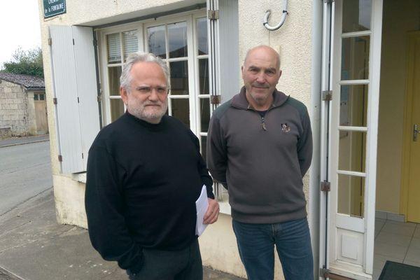 Michel Pelegrin, maire de Vautebis (79) et Jean-Michel Menant, maire de Chantecorps (79) font partie des maires en lutte contre les compteurs Linky.