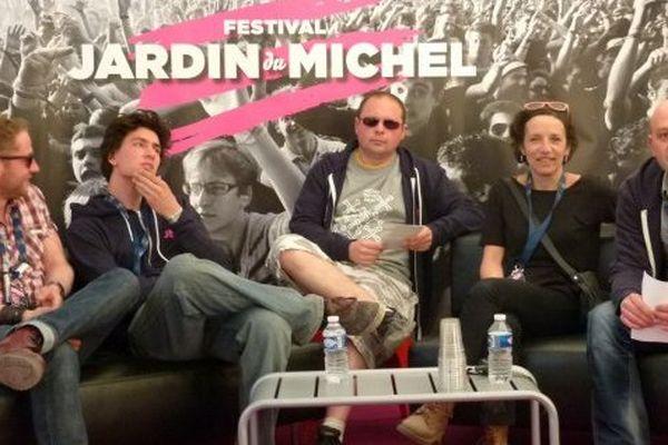 L'équipe dirigeante du festival présente le bilan du Jardin du Michel 2013.