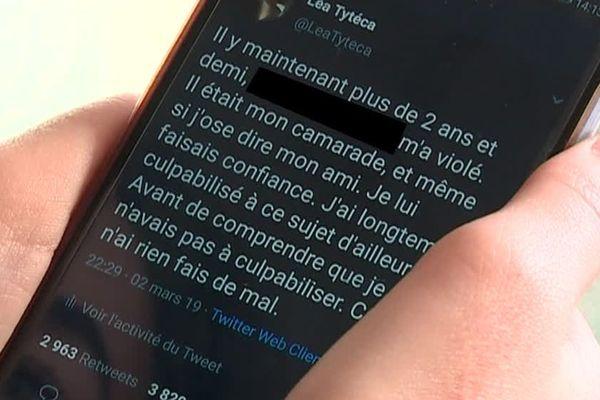 C'est sur le réseau social Twitter que Léa Tytéca a partagé son histoire. Elle accuse un ancien responsable national des jeunesses communistes de l'avoir violée en juillet 2016 en marge d'une fête alcoolisée à Paris.