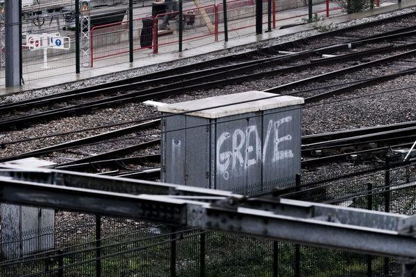 Illustration grève SNCF