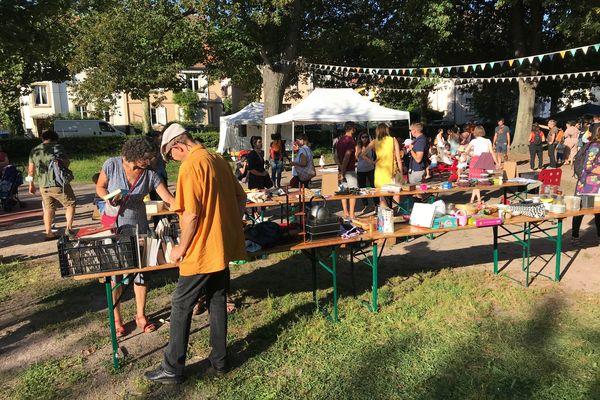Une journée d'échanges et de dons organisée par l'association de quartier de Cronenbourg, l'aCROciation, en septembre 2021 -