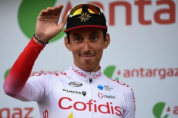 Stéphane Rossetto, coureur de l'équipe Cofidis, élu combatif du jour le 6 juillet 2019 à Bruxelles.