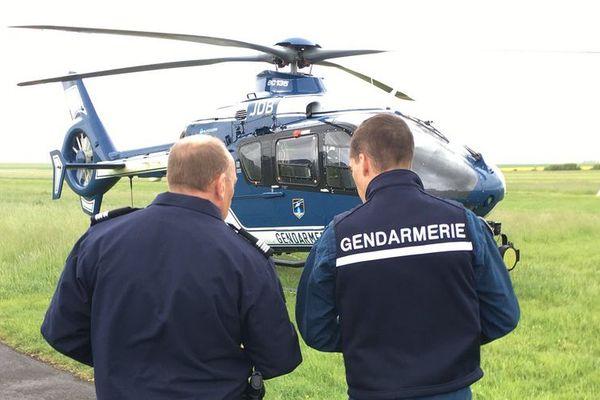 Pour surveiller le Teknival 2018 à Marigny, dans la Marne, la gendarmerie a sorti l'hélicoptère