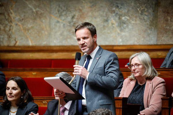 Cédric Roussel lors d'une séance de questions au gouvernement à l'Assemblée Nationale le 7 mai 2019.