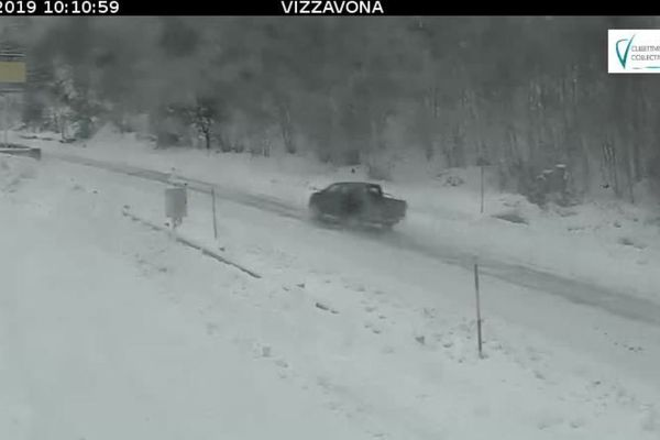 La webcam de la CTC au Col de Vizzavona ce mercredi 30 janvier.