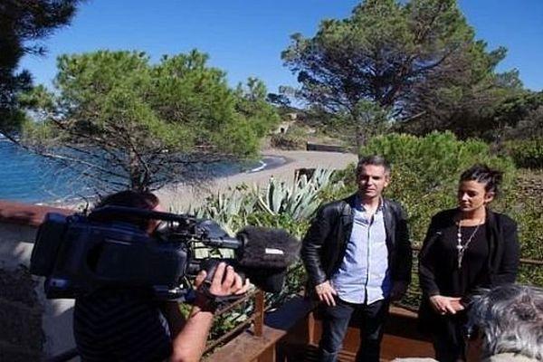 """Les équipes de """"Viure al pais en catalan"""" en tournage à la baie de Paulilles"""
