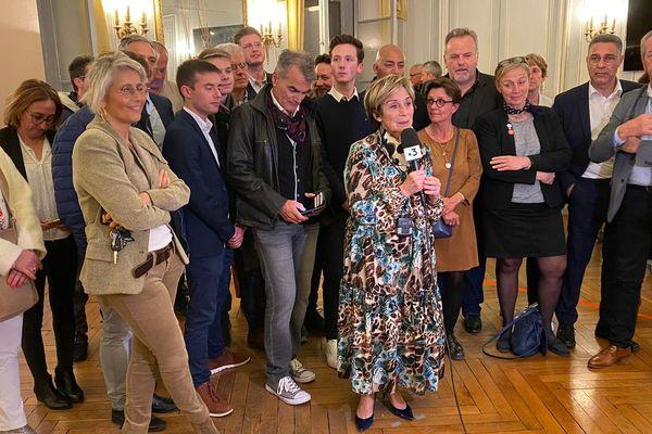 Brigitte Barèges interrogée sur France 3 Midi-Pyrénées au soir du premier tour des élections municipales à Montauban