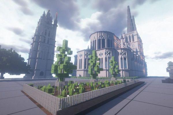 La tour Pey Berland et la cathédrale Saint-André sont visibles sur le serveur Amberstone.