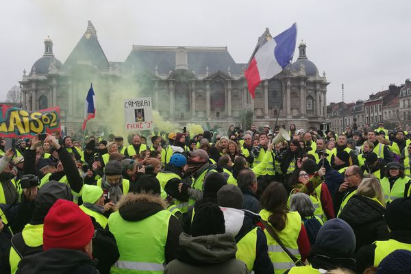 Sur la place de la République à Lille ce samedi