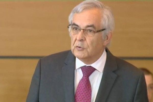 Jean-Pierre Marcon juste après sa réélection au poste de président du conseil départemental de Haute-Loire.